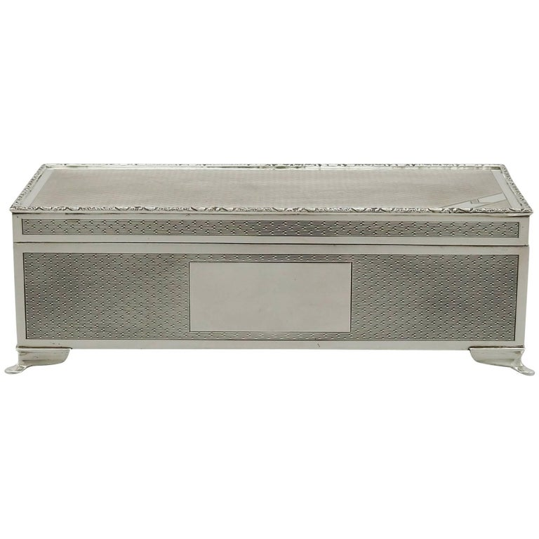1970s Sterling Silver Cigarette/Jewelry Box by Harman Brothers