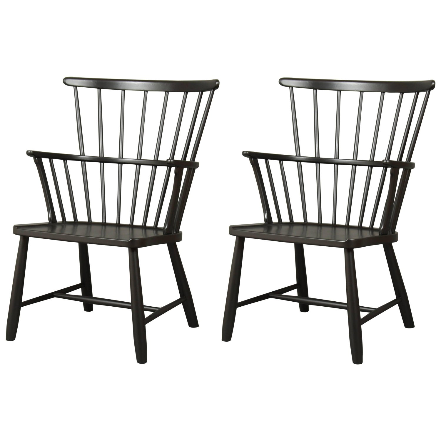 Ove Boldt Fritz Hansen Windsor Chair Black New Painted For Sale