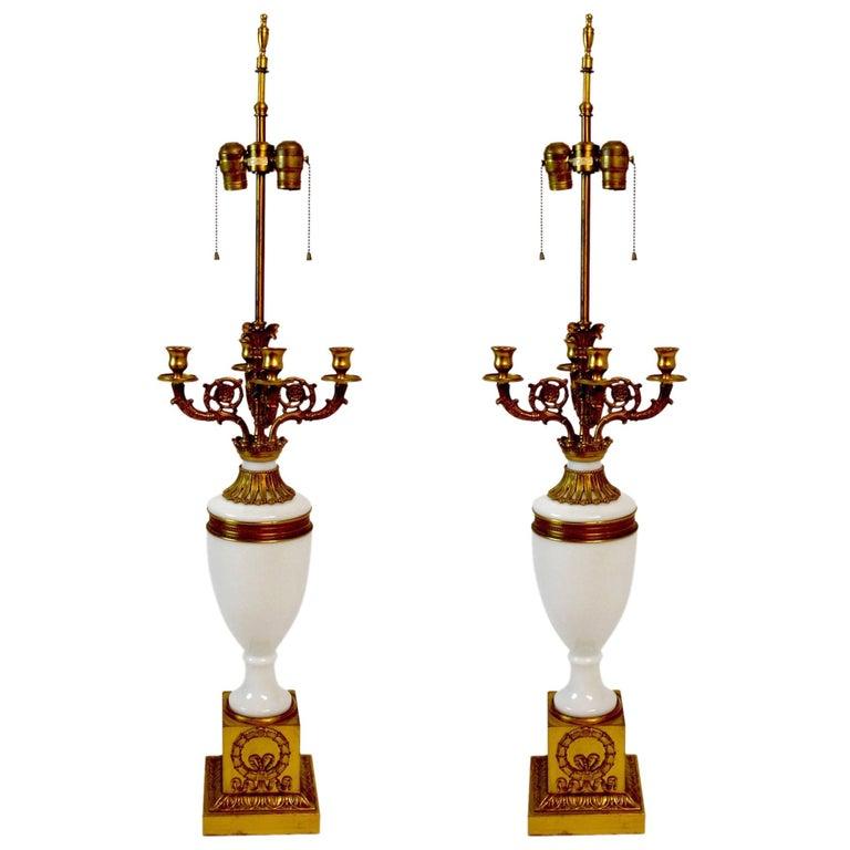 Pair of Warren Kessler Classical Lamps