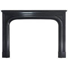 Beautiful Antique Fireplace of Black Marble - 870