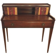 Classic Mahogany and Tooled Leather Writing Desk
