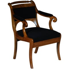 19th Century Biedermeier Armchair, Chair Kirschbaum, circa 1825
