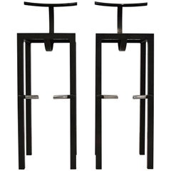 Sarapis Two Bar Stools Philippe Starck, 1986
