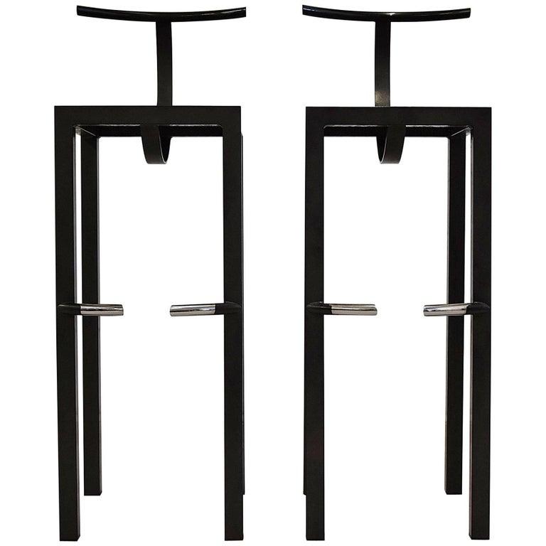 Sarapis Two Bar Stools Philippe Starck, 1986