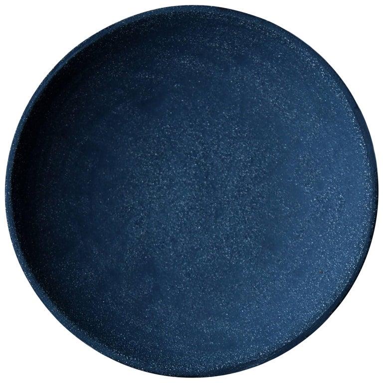 Indigo Deep Plate by Christel Thue