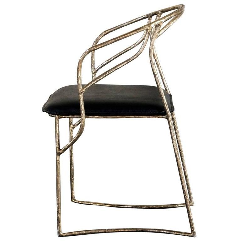 Handsculpted Brass Chair, Masaya