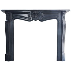 Unique and Antique Black Marble Fireplace from Belgium-868