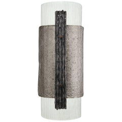 Elba Sconce in Murano Glass, Brutalist Style