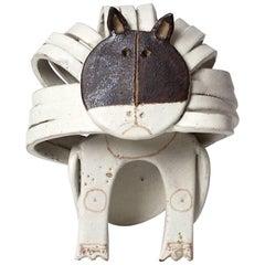 Bruno Gambone Stylised Cat Ceramic Sculpture