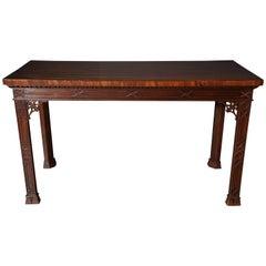 Irish Mahogany Console Table