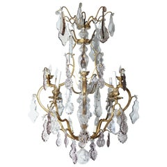 Louis XV Bronze and Crystal Chandelier