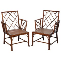 Pair of George III Cockpen Armchairs