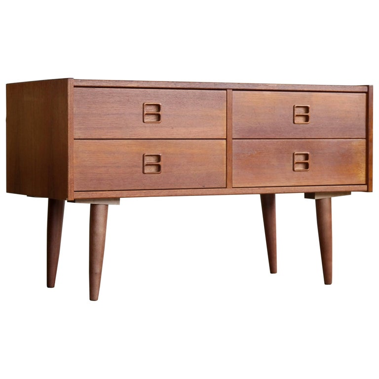 Kai Kristiansen Small Console or Chest of Drawers in Teak Danish, Midcentury
