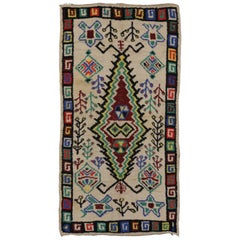 Berber Moroccan Azilal Rug with Modern Tribal Style