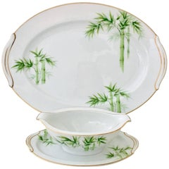 """Vintage Japanese :Bamboo"""" China Serving Pieces S/2 By, Noritake"""