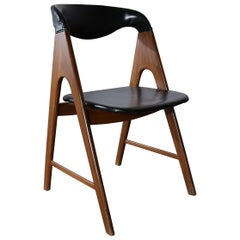 Frame Scandinavian Modern Side Chair Manner of Kai Kristiansen Compass Chair