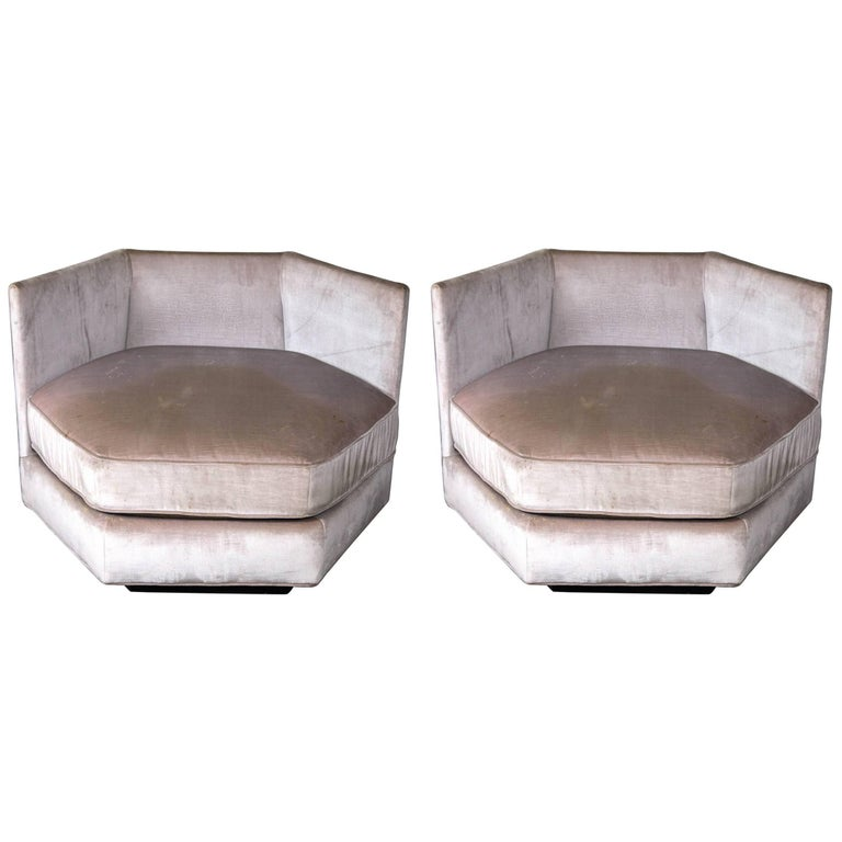 Pair of Hexagonal Lounge Chairs For Sale