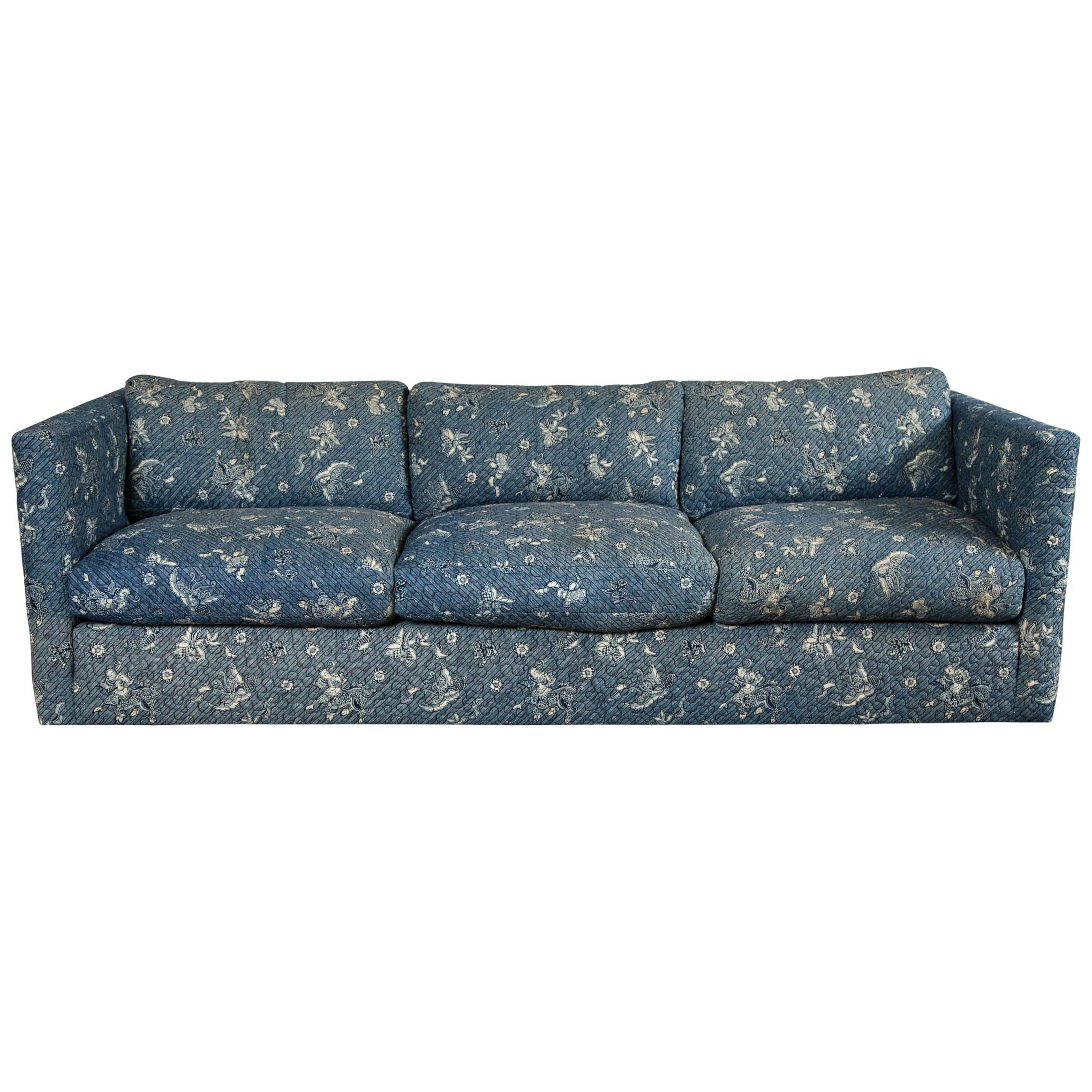 Milo Baughman Style Lawson Sofa For Sale