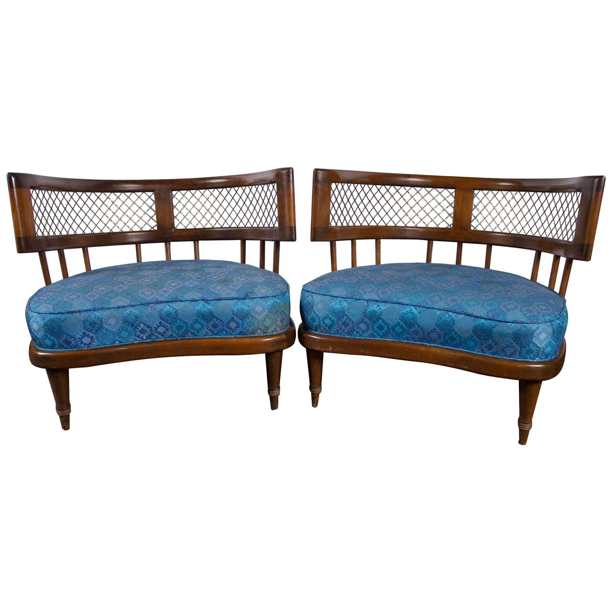 Billy Haines Style Low Lounge Chairs