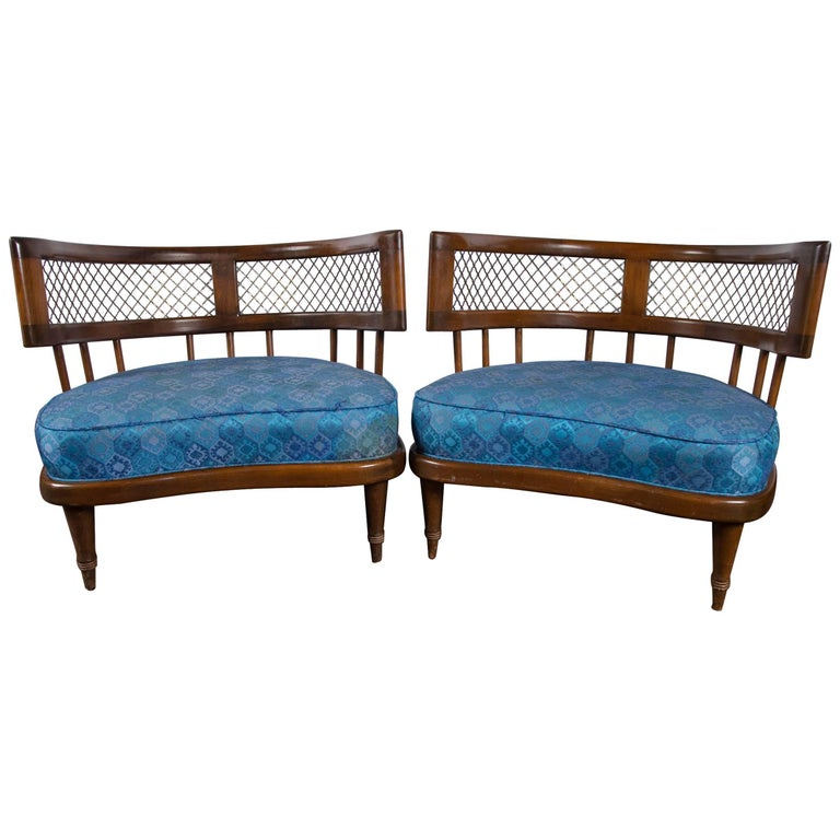Billy Haines Style Low Lounge Chairs For Sale