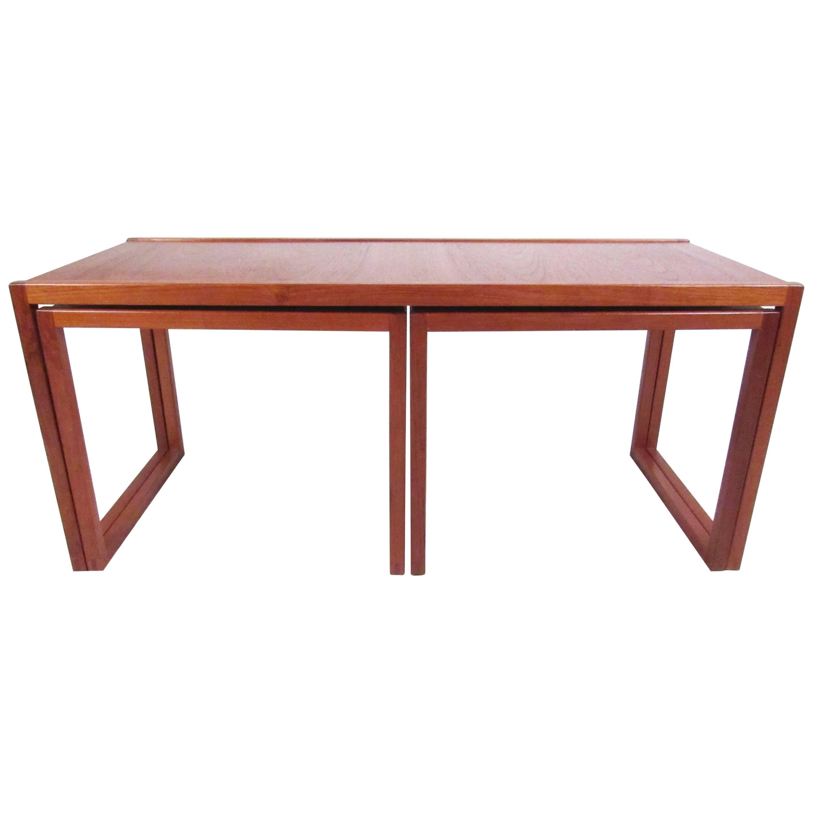 Set of Danish Modern Teak Nesting Tables