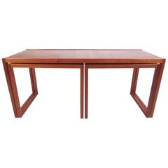 Set of Danish Modern Teak Nesting Tables
