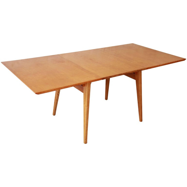 Early jens risom mid century modern maple dining table for for Maple dining table