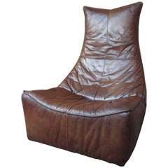"""The Rock"" Gerard van de Berg Cognac Colored Leather Lounge Chair"