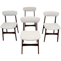 1960s Danish Teak Dining Chairs, Set of Four