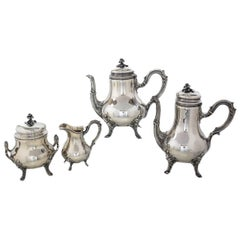 Emile Puiforcat French Sterling Silver Tea and Coffee Service