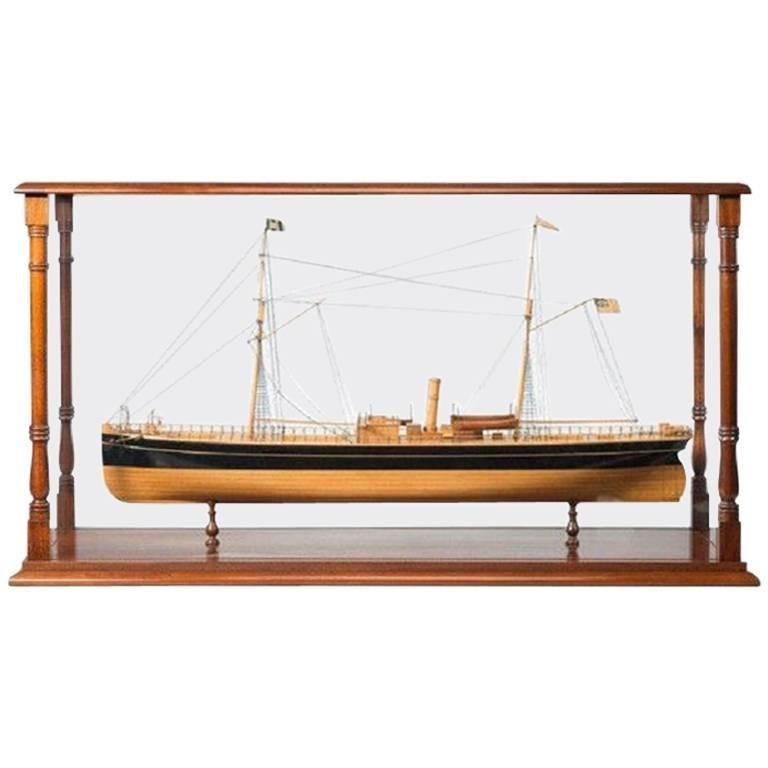 Fine Shipyard Model of a Steamship For Sale