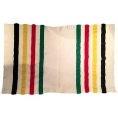 Vintage Pendelton Glacier National Park Striped Blanket