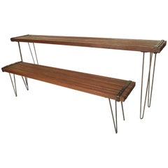 Vintage Slat Table and Bench