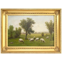 Sheep Grazing by Barton Stone Hays