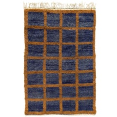 Vintage Tulu Rug in Blue and Orange