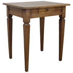 Antique French Elm Side Table