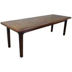 Single Plank Long Antique Thick Framed Top Elm Farm Table