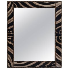 Large Zebra Hide Mirror, III
