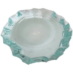 Large Scalpellato Italian Glass Dish by Pietro Chiesa