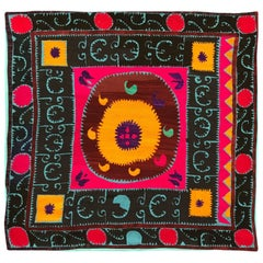 Oversized Vintage Suzani Embroidered Floor or Pet Pillow