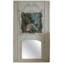 Louis XV Large Decorative Trumeau Mirror