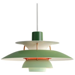 Poul Henningson Green PH5 Mini Pendants for Louis Poulsen
