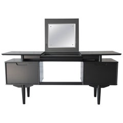 Milo Baughman for Drexel Mid-Century Modern Ebonized Floating Top Vanity Desk