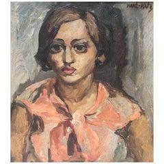 Expressionist Oil Painting, Sabra by Emmanuel Maneì-Katz
