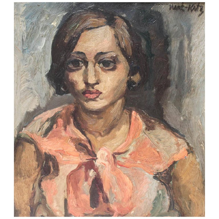 Expressionist Oil Painting, Sabra by Emmanuel Maneì-Katz For Sale