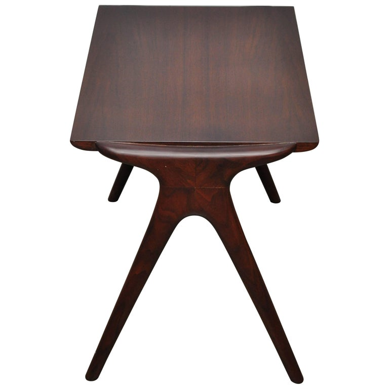 Vladimir Kagan Walnut Side Table For Sale