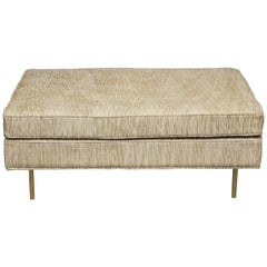 Harvey Probber Ottoman on Brass Legs