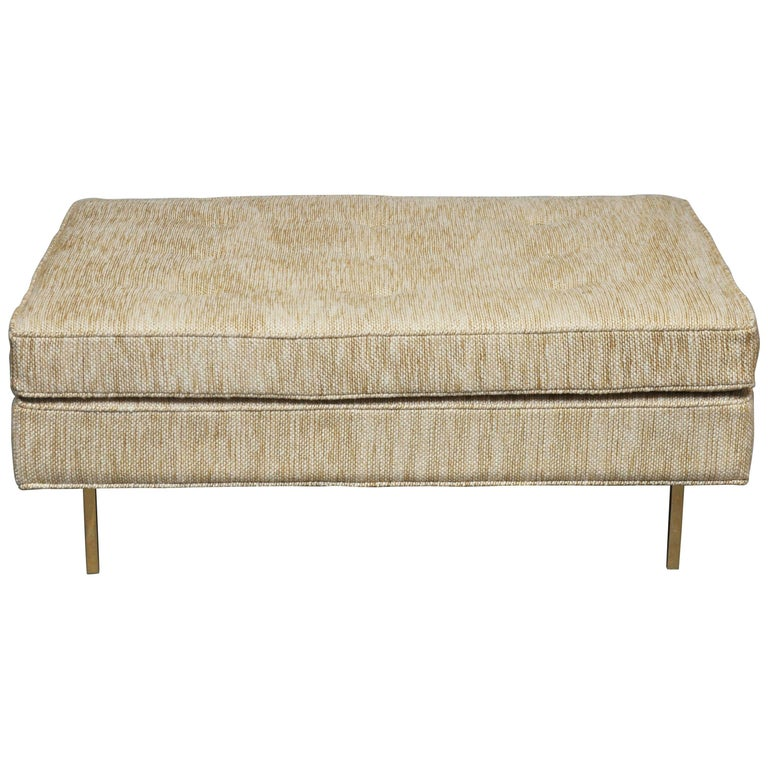 Harvey Probber Ottoman on Brass Legs For Sale