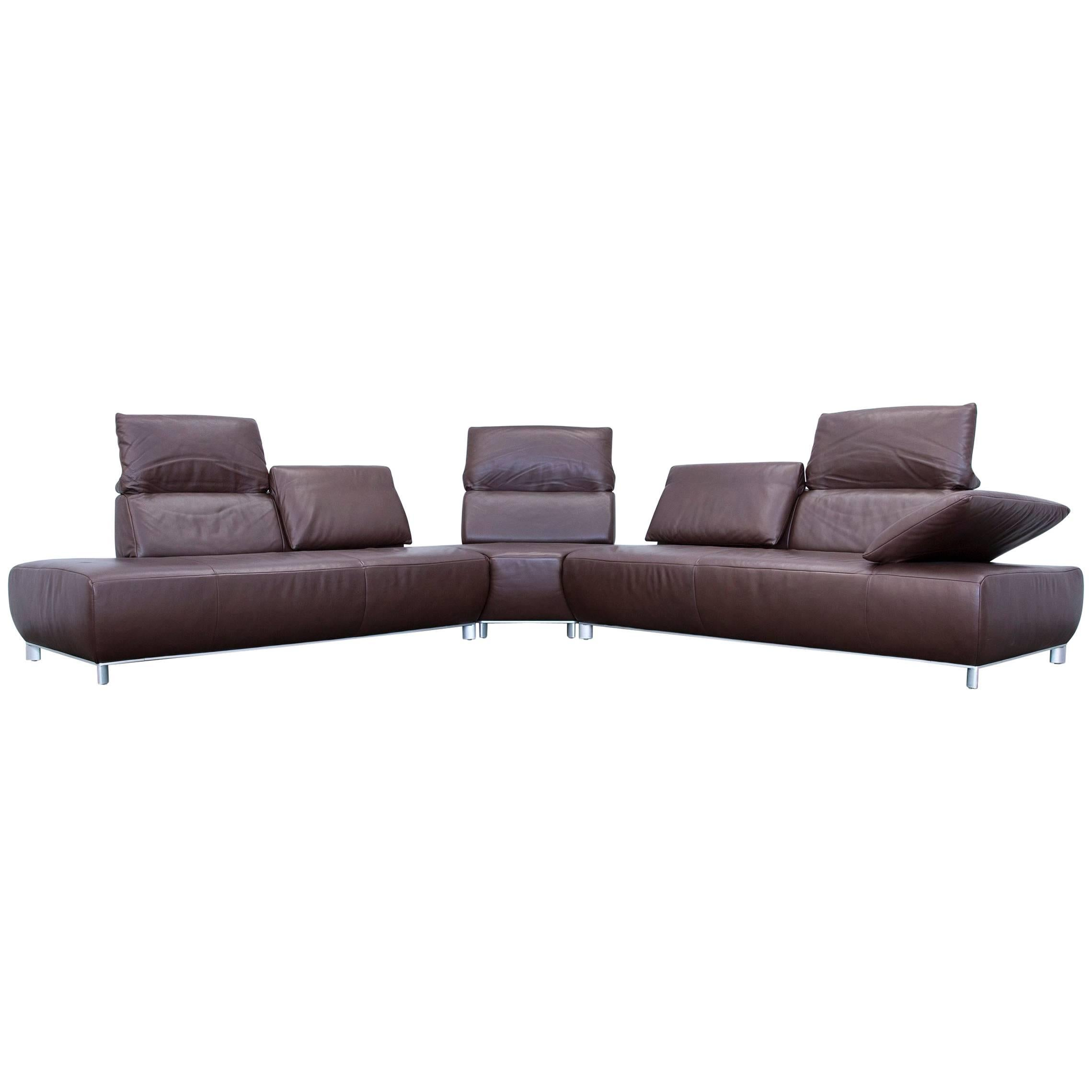 Awesome Koinor Volare Corner Sofa Leather Mocca Brown Function Couch Modern  For Sale With Koinor Sofa