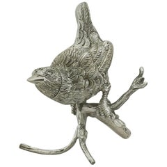 1880s Antique Victorian Sterling Silver 'Bird' Pepperette